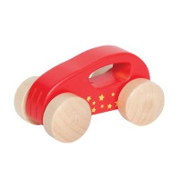Hape迷你小车0-1岁儿童木制玩具益智早教E0057