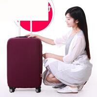 弹力拉杆箱套行李箱保护套 防尘罩袋20 24寸旅行皮箱子套加厚耐磨 紫色 加厚紫(19-22寸) 仅保护套不包行李箱