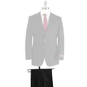雅戈尔男士商务藏青羊毛直筒套装西裤TJ28482-*21