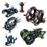 开智未来警察益智积木玩具男孩组装拼装塑料积木玩具儿童礼物玩具