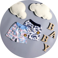 男宝宝迷彩短裤0-1-2-3岁婴儿裤子男童夏季休闲裤卡通儿童夏装