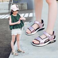 儿童凉鞋女童夏季学生小公主鞋子中大童软底沙滩鞋潮