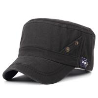 帽子男士秋冬季休闲平顶帽户外保暖帽全棉军帽鸭舌帽