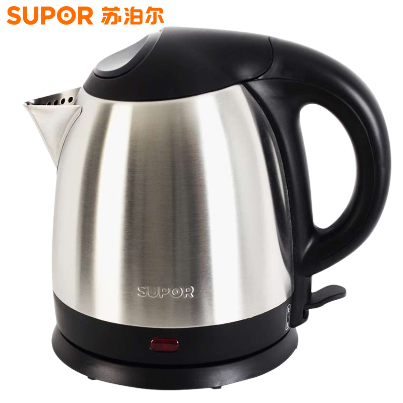 苏泊尔(SUPOR)电热水壶 电水壶304不锈钢 1.5L电茶壶电热壶电烧水壶 进口温控 SWF15P1S-150 1.5L容量,不锈钢壶身,进口温控器