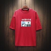 男士宽松短袖T恤学生印花韩版体恤夏季潮流棉衣服青年男T恤