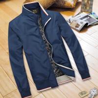春秋季青年夹克男士韩版修身外套潮外衣立领夏薄款男装休闲上衣服