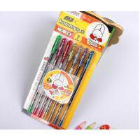 奥博 GP-38 凯米七彩闪光笔 0.7mm子弹头 卡装荧光笔 创意文具DIY贺卡相册涂鸦笔