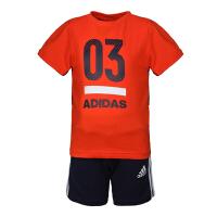 adidas阿迪达斯2019男小童LK SS TRACKSUIT短袖套服DW4059