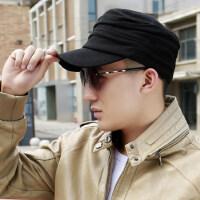 帽子男潮街头潮人韩版鸭舌帽青年潮牌个性棒球帽男士平顶军帽