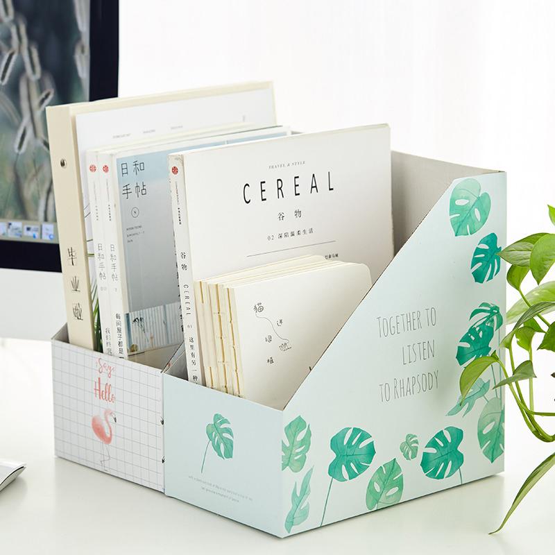 【12.12 三折抢购价23元】物有物语 书桌置物盒 创意可爱简约纸书立桌面课本收纳盒学生书桌置物盒