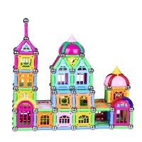 巴克球磁力棒玩具1078件儿童创意益智磁性吸石拼搭百变积木玩具 1078件礼盒装
