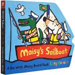 Maisy 小鼠波波系列 英文原版绘本 Maisy's Sailboat 帆船 启蒙交通工具造型纸板书
