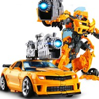 变形玩具金刚金属合金大黄蜂汽车人机器人收藏模型玩具儿童男孩女孩变形金刚玩具礼物