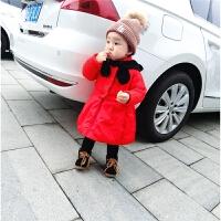 冬季婴幼儿童宝宝时尚无袖棉衣裙+线衫两件套装0-5岁冬装