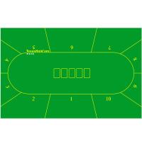德州扑克桌布桌垫台布 90*180厘米10人位无纺布