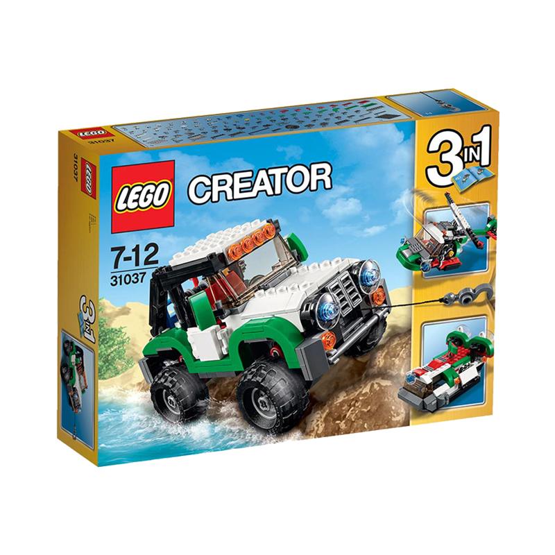 美国直邮 LEGO乐高 创意百变组水陆空三合一探险车282 PCS 31037 海外购 创意百变组水陆空三合一