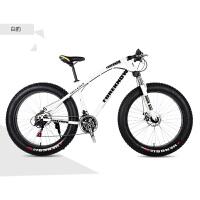变速越野沙滩雪地山地自行车4.0大轮胎宽胎自行车男女式新品 2