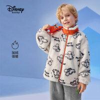 9.25超品返场【2.5折预估价:112.2元】迪士尼童装男童加绒外套儿童秋冬装宝宝上衣洋气时髦