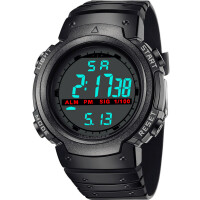 男士多功能跑步计时电子表男女学生表简约潮流 夜光防水运动手表
