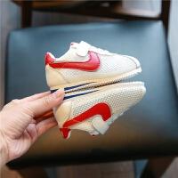 婴儿学步鞋软底春夏0一1-3岁女小童网面透气运动鞋子男宝宝单网鞋
