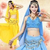 肚皮舞套装演出服新款 印度舞蹈服装女 练习服练功服表演服 均码