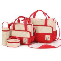 新款妈咪包多功能妈妈包花大小号五件套手提包