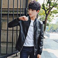 秋装新款韩版修身男士夹克时尚新款男士PU皮衣夹克外套