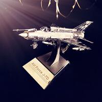 金属拼装3D模型拼图手工玩具礼品空军歼击机歼7D男朋友军事摆件