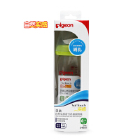 【当当自营】Pigeon贝亲 自然实感宽口径玻璃奶瓶240ml配L奶嘴(绿色旋盖/Lsize)AA91