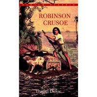 鲁滨逊漂流记英文原版小说 Robinson Crusoe 笛福世界经典名著小说 中世纪的荒野求生小说