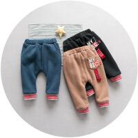 宝宝冬装1-3岁2潮儿童裤子秋冬男童长裤加绒婴幼儿保暖童装休闲裤