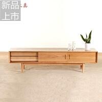 白橡木日式电视柜简约现代纯实木地柜小户型客厅环保家具定制定制 整装