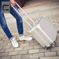 18寸行李箱多功能小型登机箱包商务铝框拉杆箱男女密码17旅行硬箱 18寸【收藏后下单 买一送八】