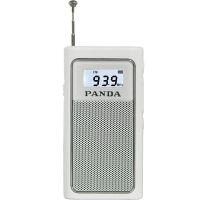 熊猫/PANDA 6200 充电插卡收音机老人迷你袖珍便携式半导体播放器 白色