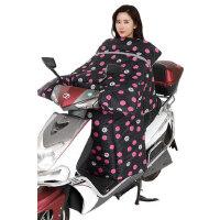电瓶车保暖加绒加厚防水挡风被 新款踏板摩托车防风罩 男女电动车挡风罩