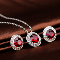 施华洛世奇 复古红色水晶项链 套装1106382