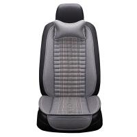 汽车坐垫小蛮腰夏季透气亚麻座垫单个片主驾驶座椅垫四季通用座垫