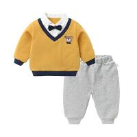 婴儿卫衣套装长裤子春装春秋幼儿男童女宝宝两件套