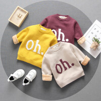 男童毛衣加绒加厚冬装韩版1-3岁女宝宝保暖套头线衫2小童毛线衣潮