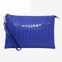 韩国女包手拿包女2018新款链条单肩包休闲手拎信封包大容量 蓝色 小号