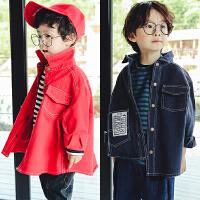儿童装韩版全棉牛仔外套男童休闲百搭长袖上衣2018春装新款C880 J