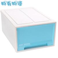鞋盒 收纳箱大号整理箱床底下收纳盒储物箱子透明塑料箱小号衣物资料抽屉玩具衣柜