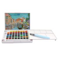 荷兰泰伦斯24色透明固体水彩颜料套装 樱花18色30色固体水彩颜料