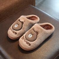 棉拖鞋女冬季情侣居家居室内厚底棉鞋包跟保暖月子毛毛拖鞋男