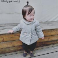 2017新款女童棉衣外套童装冬装女宝宝加厚碎花棉袄婴幼儿外出