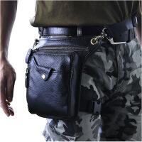 男包女包头层油腊皮 复古男士潮酷手机相机户外8寸腿包腰包211-5