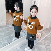 女童洋气套装秋冬韩版冬装中大童儿童卫衣裙裤两件套
