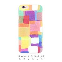 iphone6s/6splus手机壳   水彩墙    艺术原创设计     图案包边光面硬壳