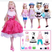 乐吉儿 芭比公主系列梦幻衣橱套装时尚换装五套时装女孩过家家玩具H30B礼盒