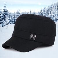 秋冬季韩版潮时尚毛呢运动帽男士户外护耳加厚保暖帽平顶帽子